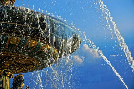 Fountain, Water, Water Feature, Inject, Drip, Wet, Blue