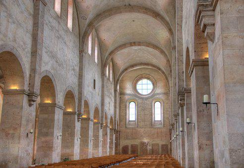 Monastery, Eberbach, Vault, Medieval, Old