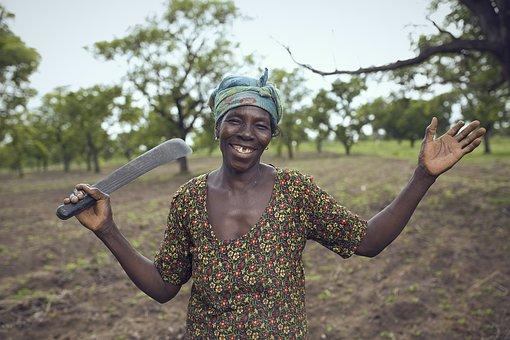 Farmer, Africa, Woman, Woman On Farm, Planting
