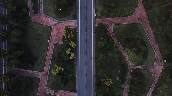 Geometric, Road, From Above