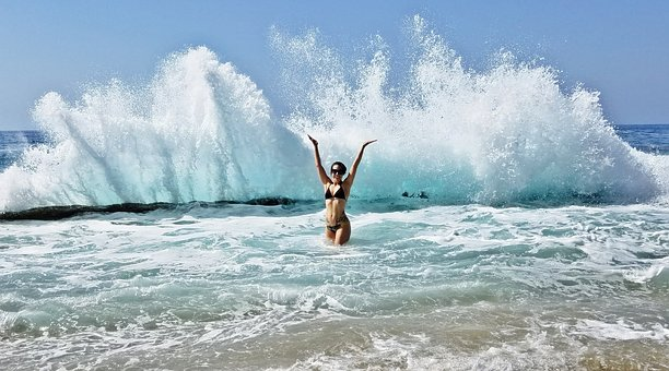 Bikini, Beach, Ocean, Girl, Water, Body, Lifestyle