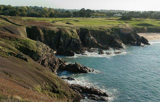 Brittany, Cliffs, Rocky Coast, Golf, Wild Coast