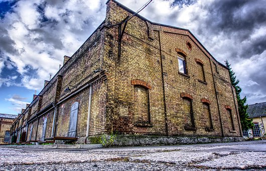 Industrial Building, Industrial Hall, Building, Hall