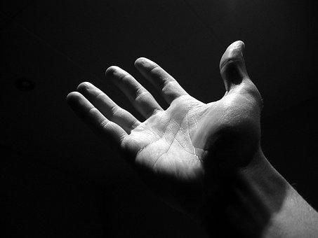 Hand, Black, Dark, Man, Monochrome