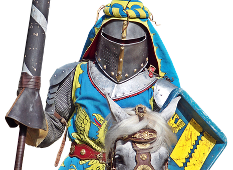 Knight, Knight Games, Lance, Horse, Armor, Helm