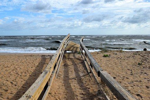Hurricane Irma, Damage, Boardwalk, Destruction, Walkway