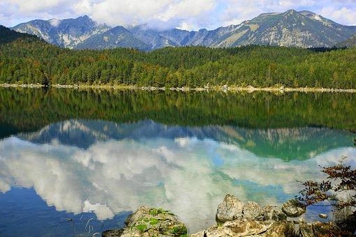 Lake, Mirroring, Water, Landscape, Mountain, Reflection