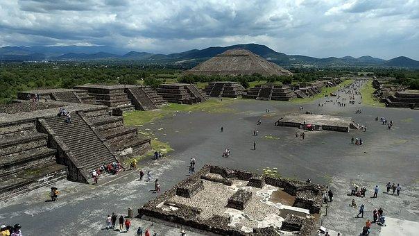 Mexico, Tourism, Ruins, Pyramids, Totihuacan, Aztecs