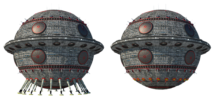 Spaceship, Model, Isolated, Space Ship Model