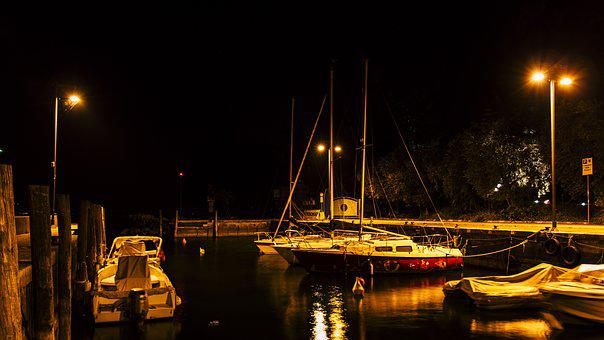 Port, Long Exposure, Night Photograph, Abendstimmung