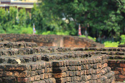 Brick, Lumbini, Nepal, Birthplace, Landmark, Old