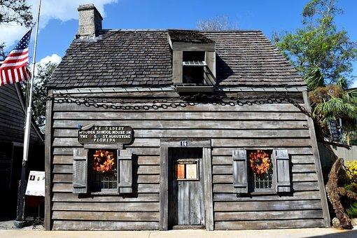 Oldest Wooden Schoolhouse, School, Historic