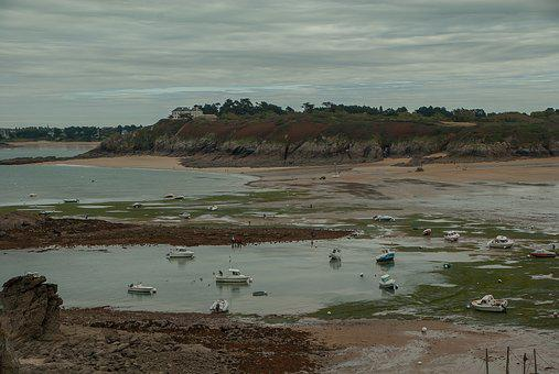Brittany, Saint-lunaire, Tide, Coastline, Coastal Path