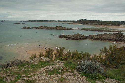 Brittany, Saint-lunaire, Tide, Rocky Coast, Granite