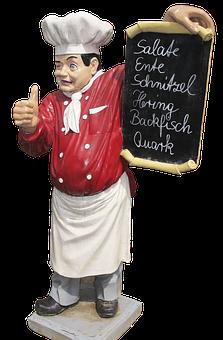 Cooking, Chef, Figure, Sculpture, Ceramic
