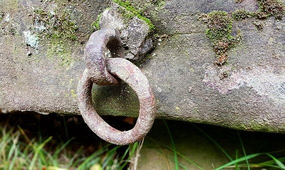 Stone, Stone Trough, Ring, Metal Ring