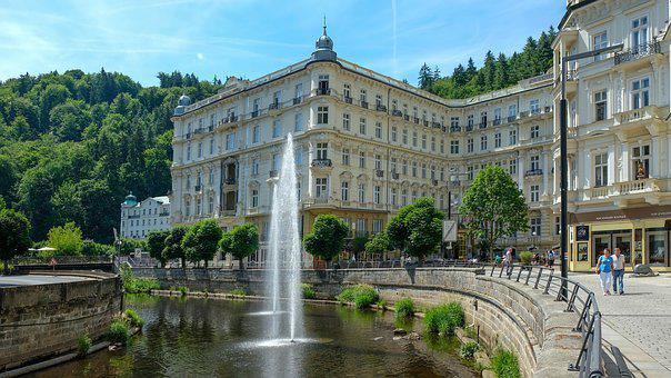 Karlovy Vary, Karlovy-vary, Water Fountain, Old Town