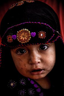 Child, Afghan, Refugee, Kid, Baby, Face, Happiness
