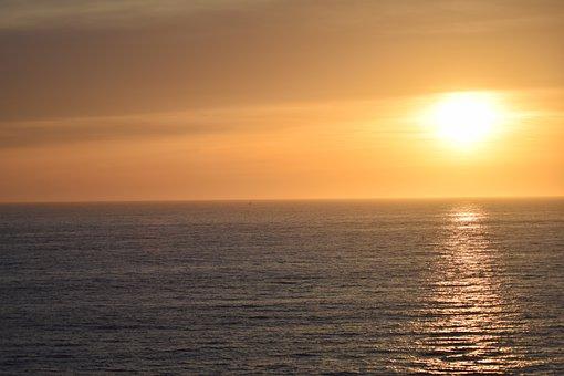 Beach, Sunset, Torrance, California, Ocean