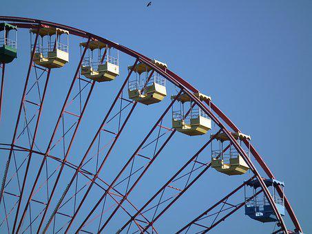 Ferris Wheel, Berlin, Spree River Park, Leave, Old