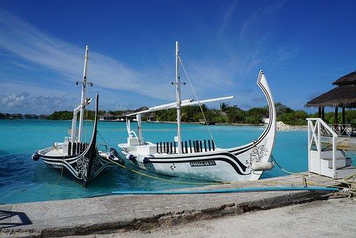 Ship, Culture, Carving, Maldives, Sea