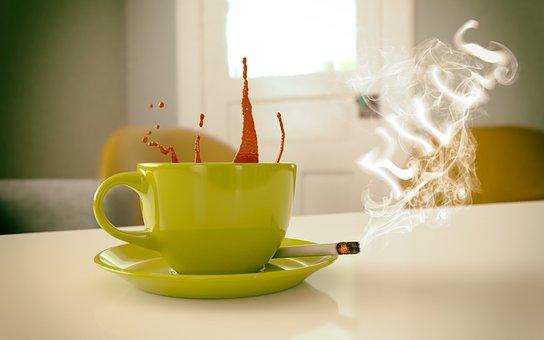 Cigarette, Coffee, Tobacco, Danger, Blood, Awareness