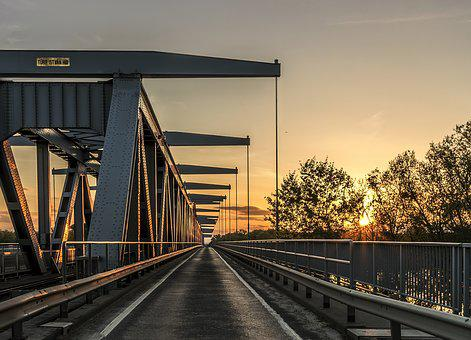 Architecture, Bridge, Dawn, Dusk, Evening, Long, Nature