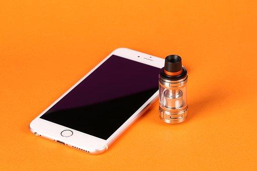 Electronic Cigarette, Mobile, Orange