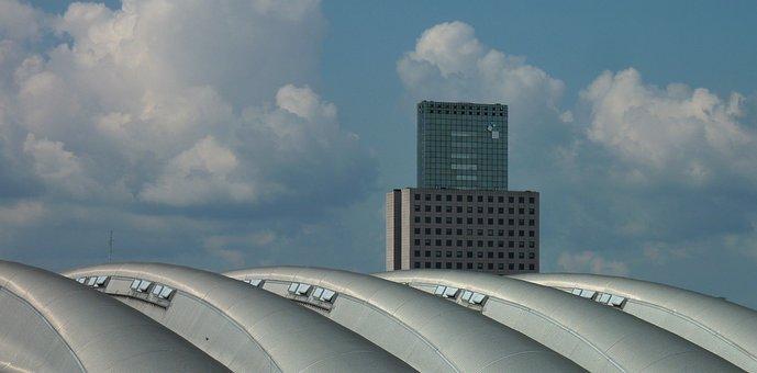 Frankfurt, Fair, Gatehouse, Skyscraper, Messeturm