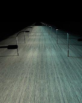 Away, Lighting, Road, Dark, Night, Lights, Light, Lamps