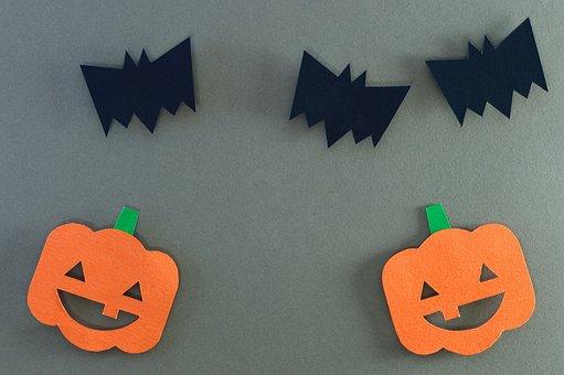 Halloween, Bat, Pumpkin, Face, Happy, Fun, Mammals