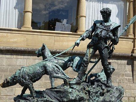Warrior, Monument, The Sculpture, Statue, Castle