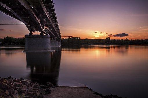 Bridge, Dawn, Dusk, Evening, Landscape, Light, Nature