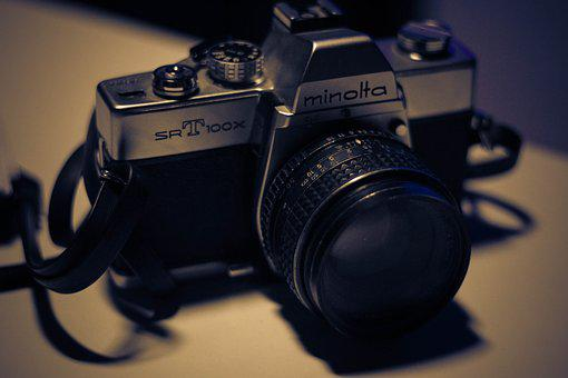 Analog, Machine, Minolta, Former, Antique, Nostalgia