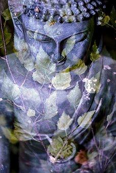 Buddha, Leaf, Religion, Statue, Buddhist, Oriental