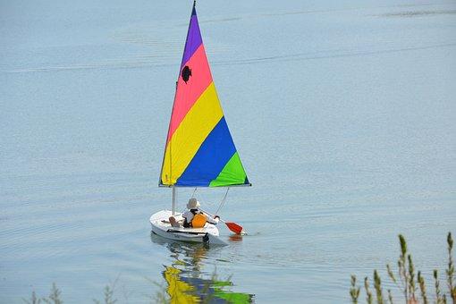 Sailboat, Lake, Water, Sky, Nature, Summer, Blue