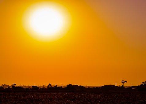 Sun, Sunset, Plateau, Evening, Scenery, Shadows