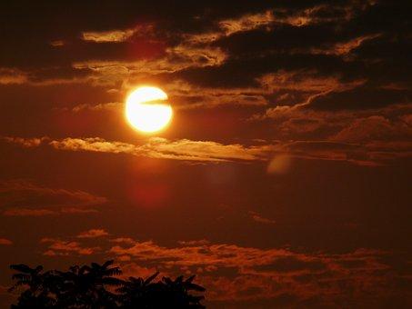 Sunset, Evening, Evening Sun, Dusk, Silhouette, Clouds