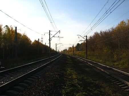 Railway, Rails, The Way, Autumn, Sleepers, Train