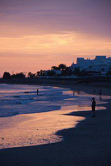 Sunset, Beach, Sunlight, The Atlantic Ocean, Sky