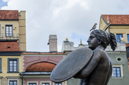 Warsaw, Mermaid, Monument, Sculpture, The Statue