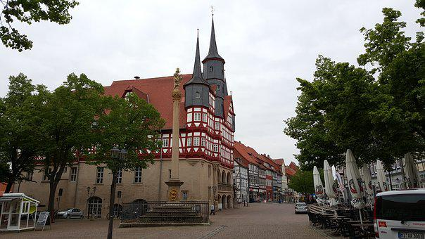 Town Home, Town Hall, Tower, Türmer, City, Downtown