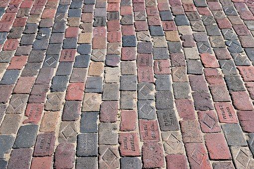 Old Brick Road, Street, Red Brick, Historic, Vintage