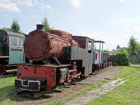 Narrow-gauge Railway, Locomotive, Train, Wagons, Rails