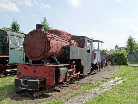 Narrow-gauge Railway, Locomotive, Train, Wagons, Rails