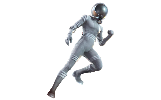 Astronaut, Isolated, Wear Protective Clothing