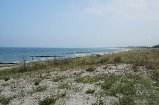 Dune, Sand, Beach, Sea, Wide