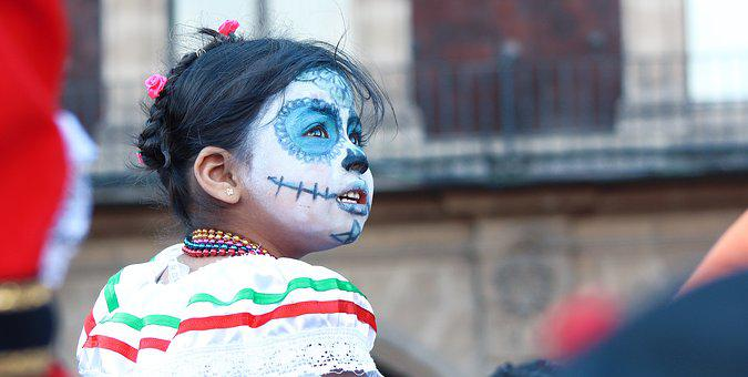 Mexico, Child, Dia De Muertos, People, Children, Makeup