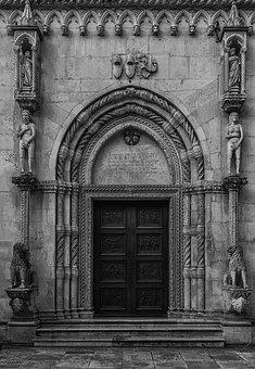 Church, Entrance, Door, Architecture, Old, Building