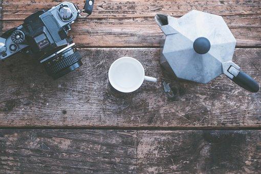 Background, Camera, Coffee, Desk, Desktop, Espresso